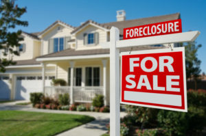 foreclosure sign on a home