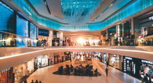 A shopping mall.