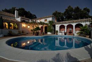 the backyard of a villa